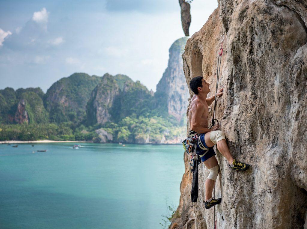 Rock Climbing Phi Phi Islands, Thailand