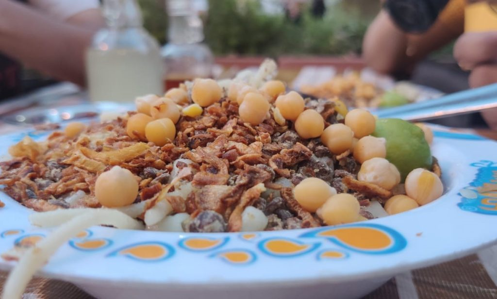 Large Bowl of Kosari at a famous joint called Abou Tarekh